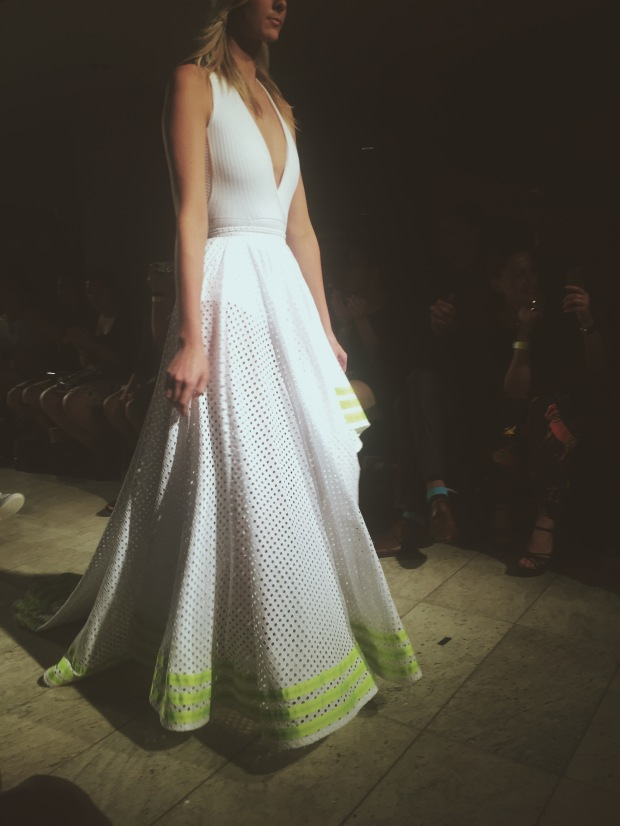 Emily Trevor's tennis-inspired ball gown.
